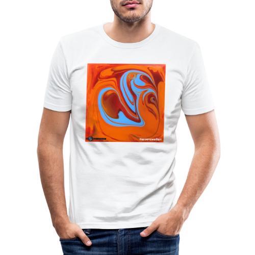 TIAN GREEN Mosaik DK005 - Herzenswelten - Männer Slim Fit T-Shirt