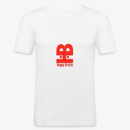 happy breizh logo - T-shirt près du corps Homme