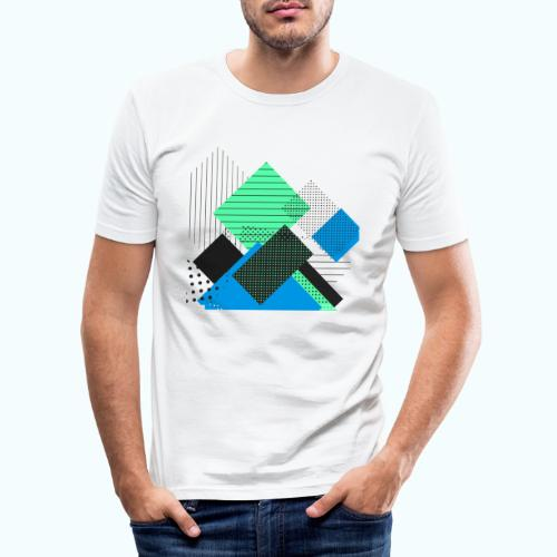 Abstract rectangles pastel - Men's Slim Fit T-Shirt