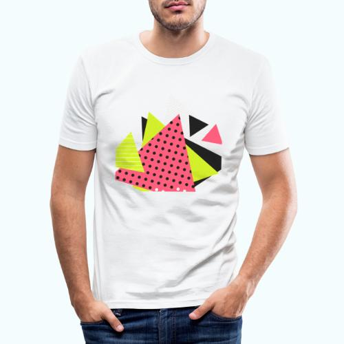 Neon geometry shapes - Men's Slim Fit T-Shirt