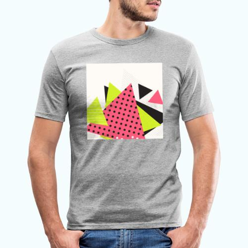 Neon geometry shapes - Men's Slim Fit T-Shirt