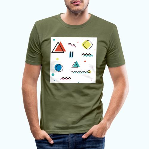Abstract geometry - Men's Slim Fit T-Shirt
