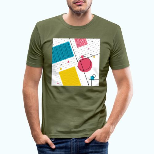 Colors shapes abstract - Men's Slim Fit T-Shirt