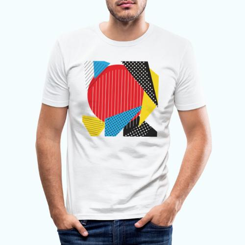 Geometry collage Abstract colors - Men's Slim Fit T-Shirt