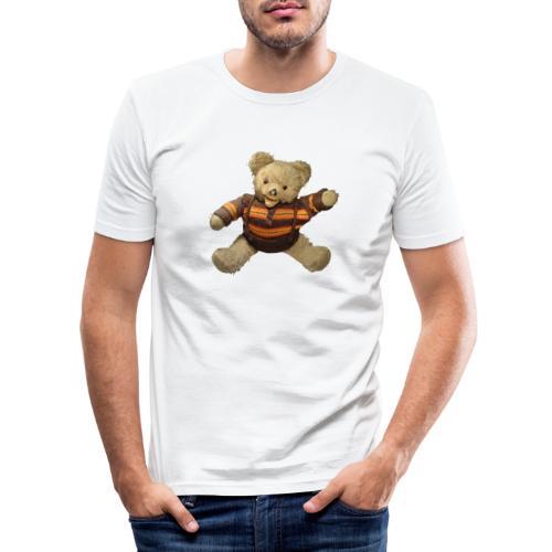 Teddybär - orange braun - Retro Vintage - Bär - Männer Slim Fit T-Shirt