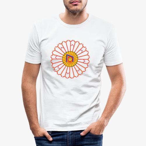 Strahlenkreis mit Rune - Männer Slim Fit T-Shirt