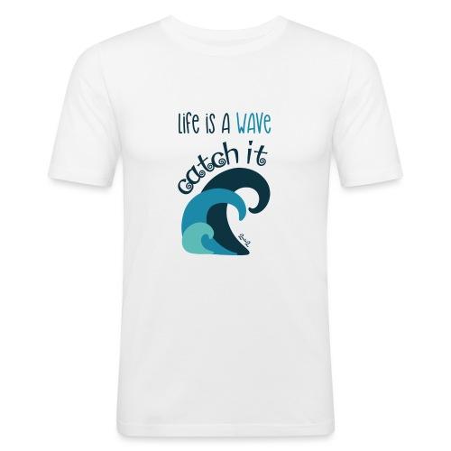 Life is a wave - Maglietta aderente da uomo