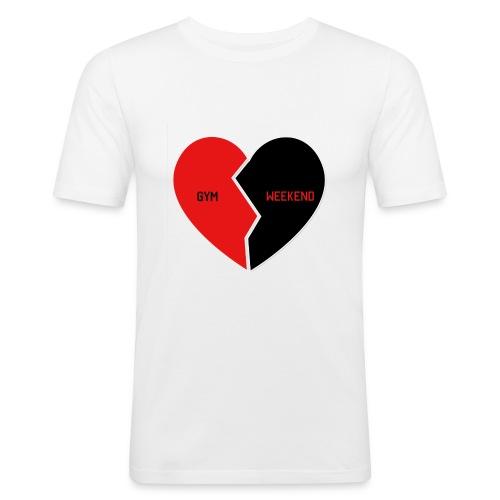 Heart for Gym - Männer Slim Fit T-Shirt