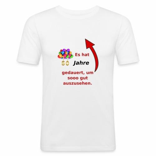 T-Shirt zum 50. Geburtstag Herren Spruch - Männer Slim Fit T-Shirt