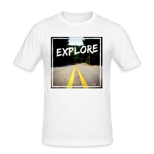 Explore with Oak - Männer Slim Fit T-Shirt