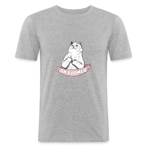 OK Boomer Cat Meme - Men's Slim Fit T-Shirt
