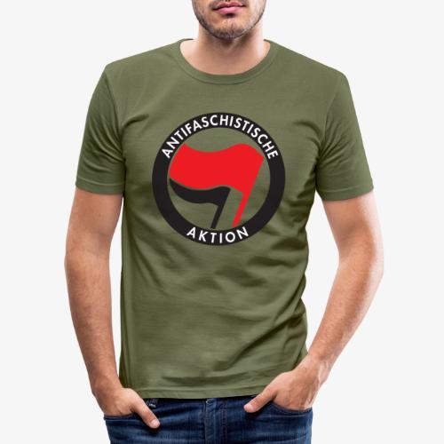 Atnifaschistische Action - Antifa Logo - Men's Slim Fit T-Shirt