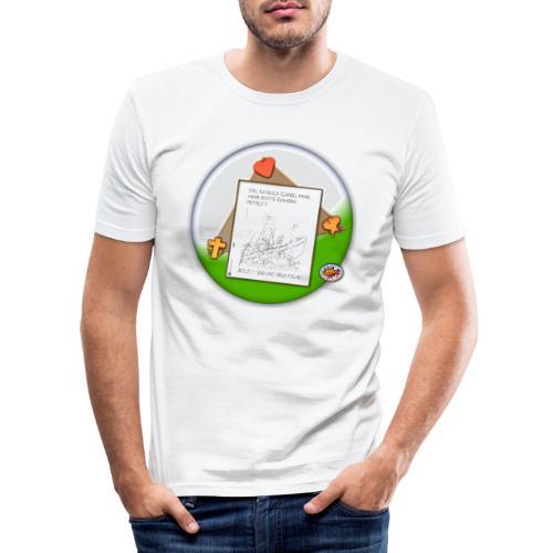 Petrus trifft Jesus - zu viele Fische ! - Männer Slim Fit T-Shirt