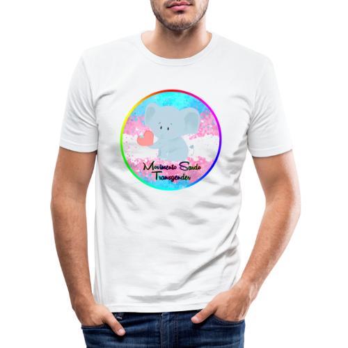 Logo Dell'Associazione Movimento Sardo Transgender - Maglietta aderente da uomo