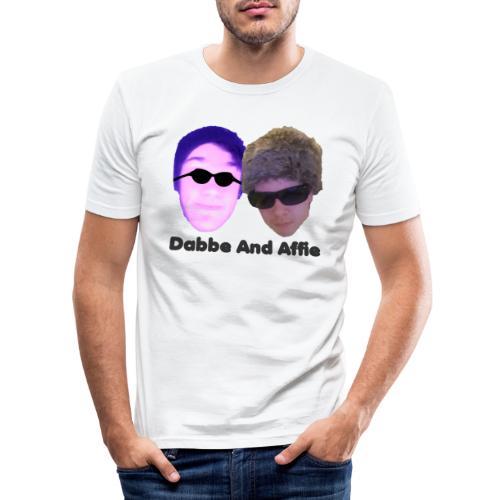 Dabbe And Affie Svart Text - Slim Fit T-shirt herr