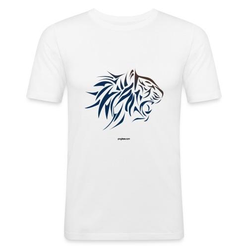 tiger vector - Camiseta ajustada hombre
