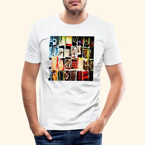 Mosaico - Maglietta aderente da uomo