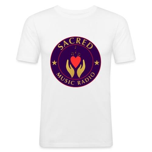 Spread Peace Through Music - Men's Slim Fit T-Shirt