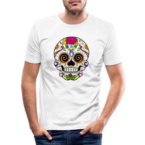 skull3 - Maglietta aderente da uomo