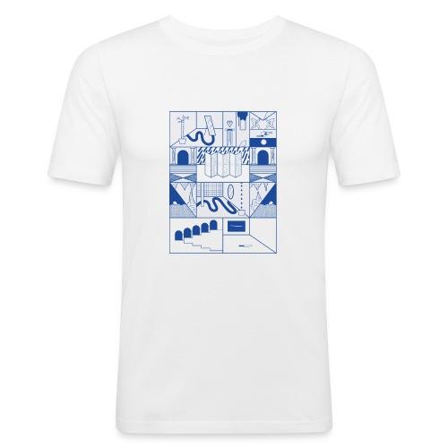 Blue - Männer Slim Fit T-Shirt