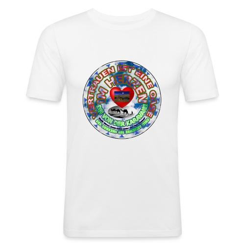 Oase im Herzen - Männer Slim Fit T-Shirt