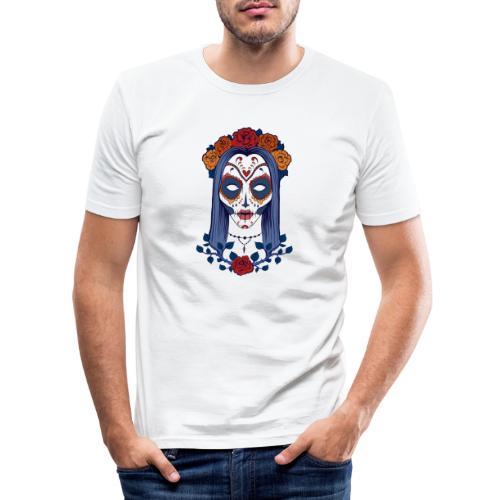 Skull 4 - Maglietta aderente da uomo