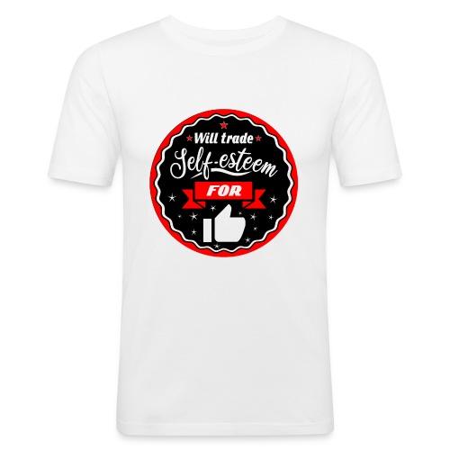 Swap self-esteem for likes (inches) - Men's Slim Fit T-Shirt