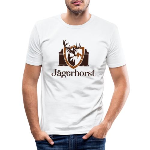 Jägerhorst Logo - Männer Slim Fit T-Shirt