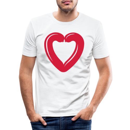 I love sausage - Men's Slim Fit T-Shirt