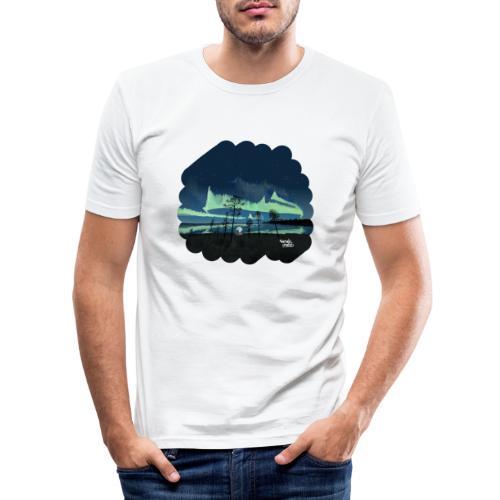 Reflet des aurores boréales - T-shirt près du corps Homme
