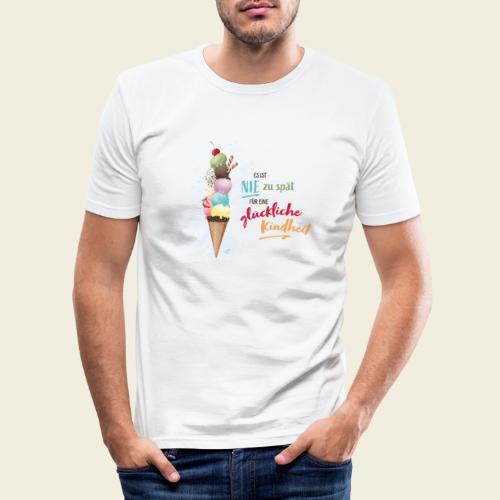 Eis - glückliche Kindheit - Männer Slim Fit T-Shirt