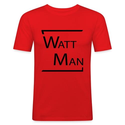 Watt Man - Mannen slim fit T-shirt