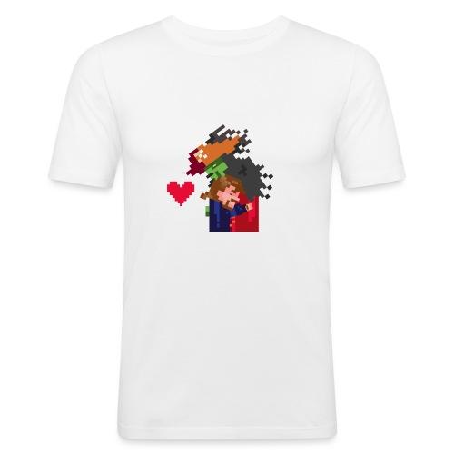 Abbracciccio-06 - Maglietta aderente da uomo