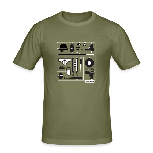 Ninho Orange Clockworks - Maglietta aderente da uomo