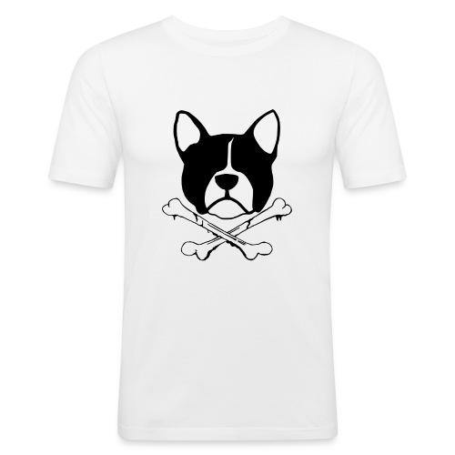 French Bullgod Logo - Männer Slim Fit T-Shirt