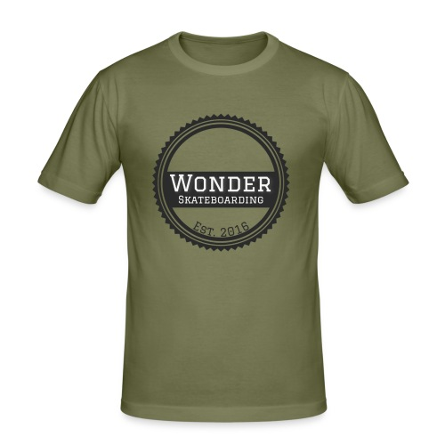 Wonder unisex-shirt round logo - Herre Slim Fit T-Shirt