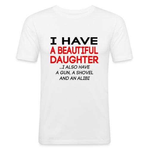 beautiful_daughter - Slim Fit T-skjorte for menn