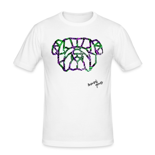 Bulldog waves - Camiseta ajustada hombre