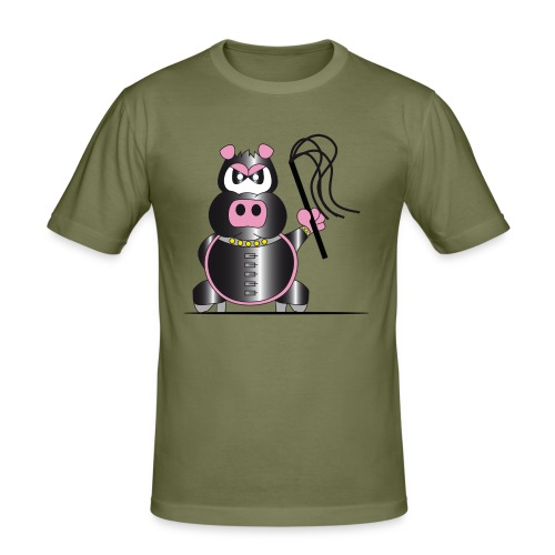 Schweinchen Sado - Männer Slim Fit T-Shirt