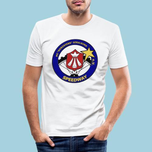MCN Logo beidseitig - Männer Slim Fit T-Shirt