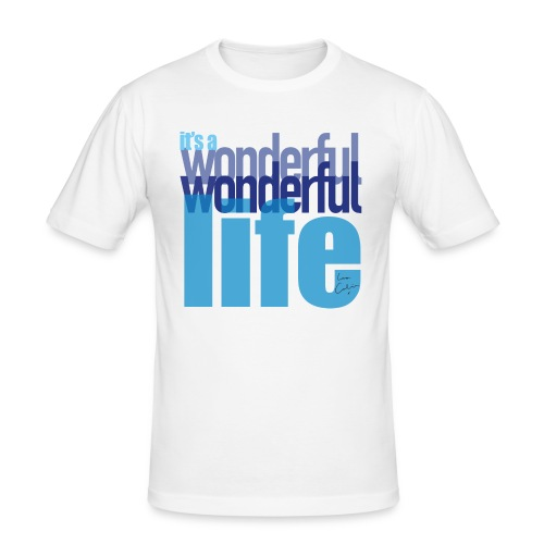 It's a wonderful life blues - Men's Slim Fit T-Shirt