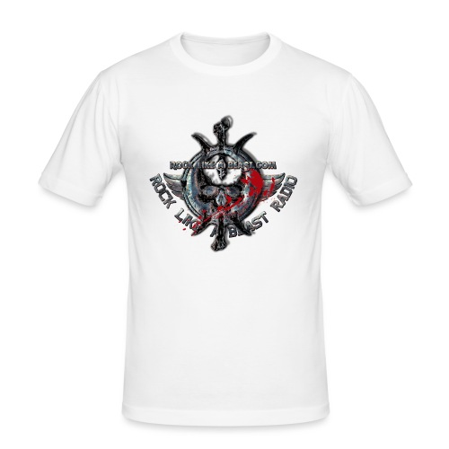 Blood Skull Logo - Slim Fit T-shirt herr