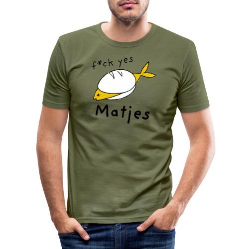 Ostfriesland Fun Shirt - F*ck Yes Matjes - Männer Slim Fit T-Shirt
