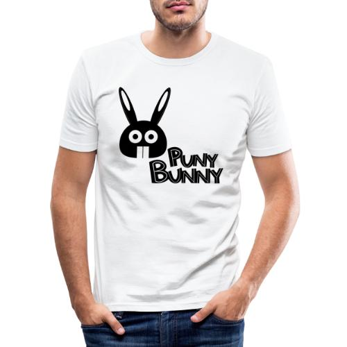 Puny Bunny text - Miesten tyköistuva t-paita