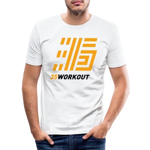 35WORKOUT Brand - Maglietta aderente da uomo