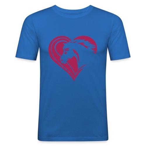 Iheart horses - Männer Slim Fit T-Shirt