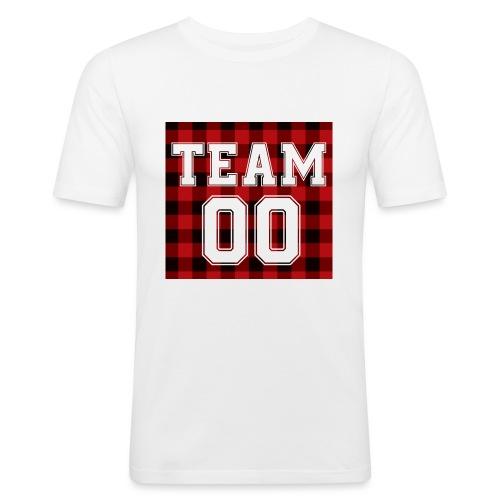 TEAM 00 T-shirt White - Mannen slim fit T-shirt