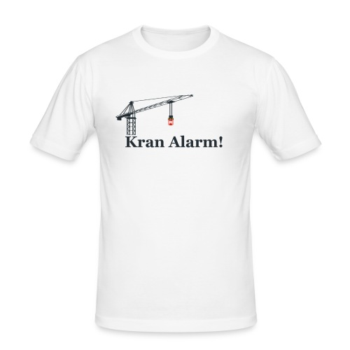 Kran Alarm - Herre Slim Fit T-Shirt