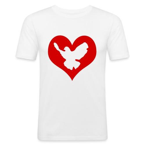 Peace & Love - Männer Slim Fit T-Shirt
