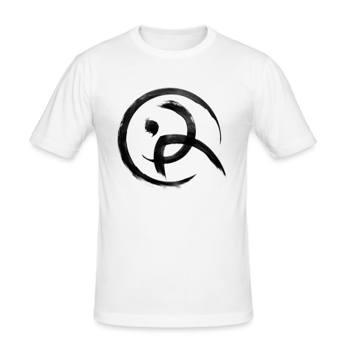 PKA_Enso_black - Männer Slim Fit T-Shirt